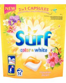 Surf Color & White Hawaiian Dream Kapsułki do prania 337 g (14 sztuk)
