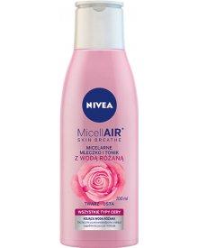 NIVEA MicellAir Skin Breathe Micelarne mleczko i tonik z wodą różaną 200 ml