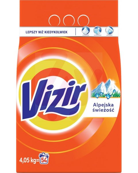 Vizir Alpine Fresh Proszek do prania 4,05 kg, 54 prania