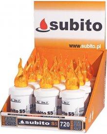 Wkład na baterie elektryczny LED do zniczy kolor żółty30 dni świecenia 12 sztuk