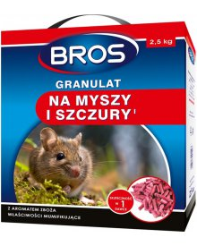BROS granulat na myszy i szczury 2,5kg