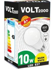 Volt żarówka 10W A+ LED gwint E27 energooszczędna 800 lumenów kolor świecenia - biały ciepły
