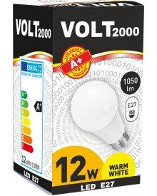 Volt żarówka 12W A+ LED gwint E27 energooszczędna 1050 lumenów kolor świecenia - biały ciepły