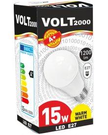 Volt żarówka 15W A+ LED gwint E27 energooszczędna 1200 lumenów kolor świecenia - biały ciepły