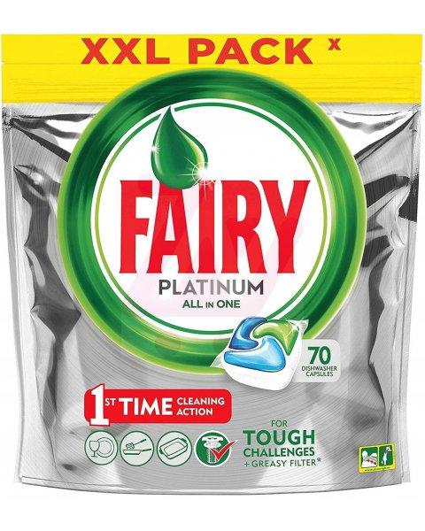 Fairy Platinum All In One Regular Kapsułki do zmywarki 70 sztuk