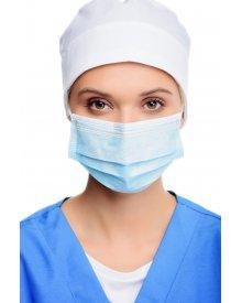 Maseczka chirurgiczna ochronna niebieska wiązana 1szt