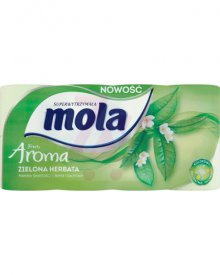 Mola Fresh Aroma Papier toaletowy zielona herbata 8 rolek