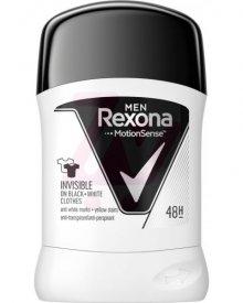 Rexona Men Invisible Black + White Antyperspirant w sztyfcie dla mężczyzn 50 ml