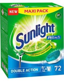 Sunlight All in 1 Tabletki do zmywarki 1260 g (72 sztuki)