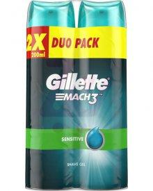 Gillette Mach3 Complete Defense Sensitive Żel do golenia dla mężczyzn 2x200ml