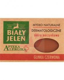 Biały Jeleń Apteka Alergika Mydło naturalne dermatologiczne glinka czerwona 125 g