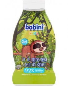 Bobini Kids Szampon żel i płyn do kąpieli 3w1 leniwiec 660 ml