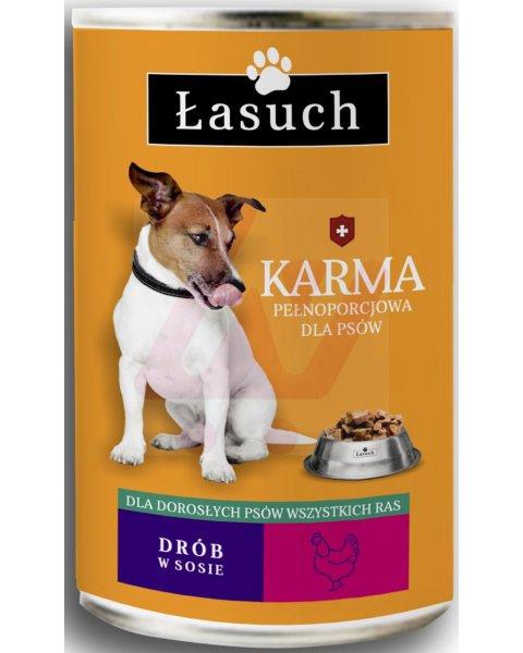 Łasuch karma z drobiem pełnoporcjowa dla dorosłych psów 1,25kg