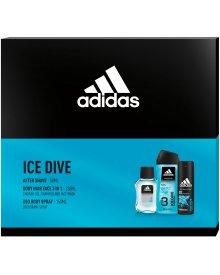 Adidas ICE DIVE zestaw kosmetyków EDT + żel pod prysznic + deozodorant
