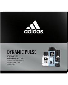 Adidas DYNAMIC PULSE zestaw kosmetyków AS + żel pod prysznic + deozodorant