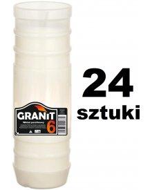 Granit wkład parafinowy czas palenia 6 dni wysokość 20 cm 24 sztuki