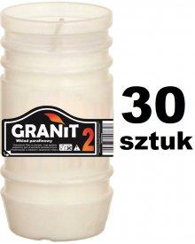 Granit 2D Wkład do zniczy parafinowy Czas palenia 2dni 11cm 120g 30szt