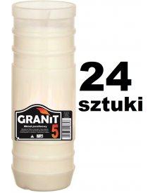 Granit 5D Wkład do zniczy parafinowy, Czas palenia 5dni, 17,5cm 280g 24szt