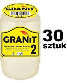 Granit 2 Wkład do zniczy olejowy, czas palenia 2,5 dnia 130g 30szt