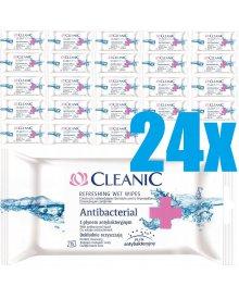 Cleanic Antibacterial Chusteczki odświeżające 24 opakowania