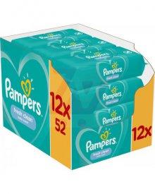 Pampers Fresh Clean Chusteczki nawilżane dla niemowląt 12 opakowań 624 chusteczek nawilżanych