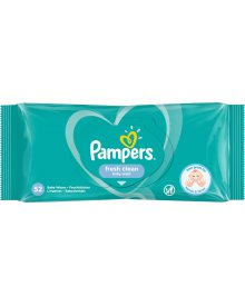 Pampers Fresh Clean Chusteczki nawilżane dla niemowląt 1 opakowanie 52 chusteczek nawilżanych
