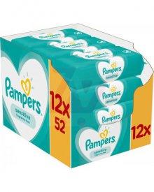Pampers Sensitive Chusteczki nawilżane dla niemowląt 12 opakowań 624 chusteczki nawilżane