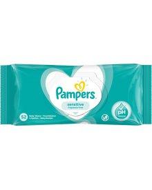 Pampers Sensitive Chusteczki nawilżane dla niemowląt 1 opakowanie 52 chusteczki nawilżane