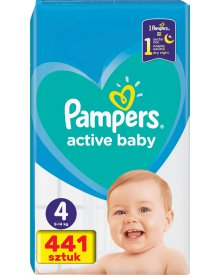 Pampers Active Baby Rozmiar 4, 441 pieluszek, 9-14 kg