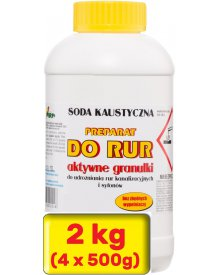 Ara soda kaustyczna preparat do udrożniania rur 4 x 500g