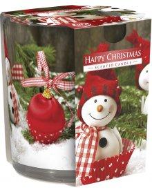Świeczka świąteczna zapachowa Merry Christmas Bałwanek cynamonowa 1szt
