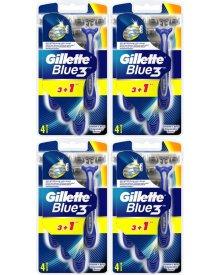 Gillette Blue3 Jednorazowe maszynki do golenia dla mężczyzn, 4 sztuki