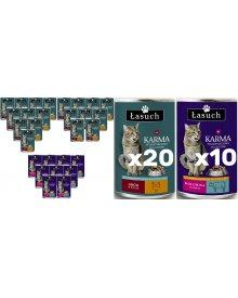 Łasuch karma z wołowiną pełnoporcjowa dla dorosłych kotów 415g