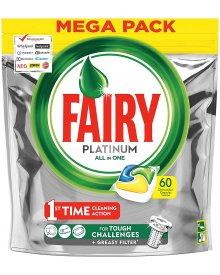 Fairy Platinum All In One Cytryna Kapsułki do zmywarki 60 sztuk