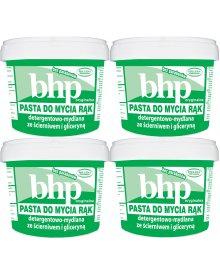 BHP oryginalna pasta do mycia rąk detergentowo mydlana ze ścierniwem i gliceryną 500g 4sztuki
