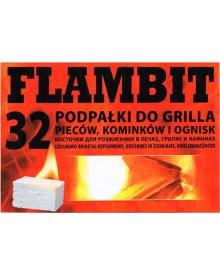 FLAMBIT podpałka do grilla lub kominka duża biała 1szt