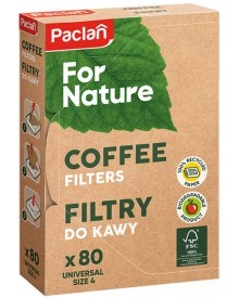 Paclan For Nature filtry do kawy 80szt rozmiar 4