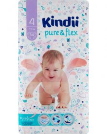 KINDII PURE & FLEX PIELUSZKI 4 MAXI 7-14 KG 54 SZTUKI