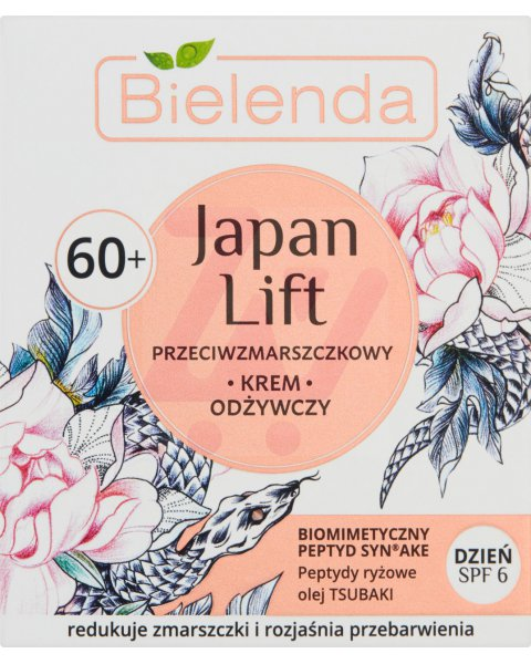 BIELENDA JAPAN LIFT 60+ PRZECIWZMARSZCZKOWY KREM ODŻYWCZY NA DZIEŃ SPF 6 50 ML