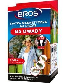 BROS siatka 100x220cm czarna magnetyczna na drzwi moskitiera