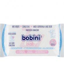 Bobini Baby Chusteczki nawilżane z rumiankiem i aloesem 60 sztuk