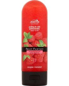 Joanna Fruit Fantasy Soczysta malina Peeling do ciała gruboziarnisty 200 ml