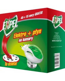 EXPEL elektrofumigator + płyn na komary 60nocy