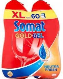 Somat Gold Neutra Fresh Żel do mycia naczyń w zmywarkach 2 x 600 ml