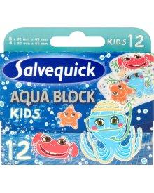 Salvequick Aqua Block Kids Plastry 12 sztuk