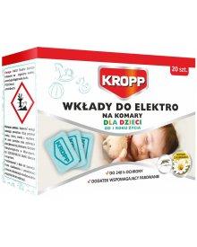 KROPP wkłady do elektrofumigatora na komary dla dzieci 20szt