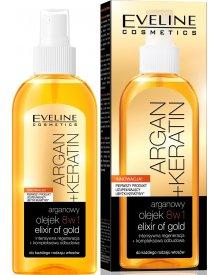 Eveline Argan & Keratin Liquid Silk olejek do włosów 8w1 150ml