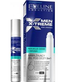 Eveline Men X-Treme 6w1 żel pod oczy nawilżająco-chłodzący roll-on 15ml