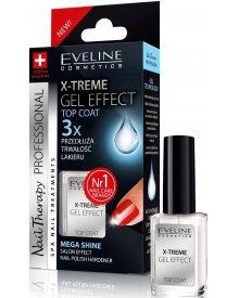 Eveline Nail Therapy lakier odżywka X-Treme Gel Effect-płynne szkło 12ml