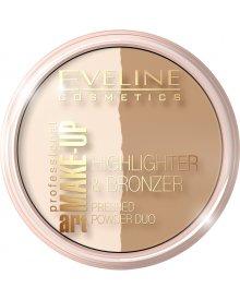 Eveline Art. Professional Make-up puder rozświetlający i bronzer nr 56 Glam Light 12g